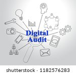 digital audit cyber network... | Shutterstock . vector #1182576283