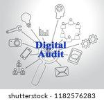 digital audit cyber network... | Shutterstock . vector #1182576283