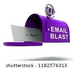 email blast newsletter... | Shutterstock . vector #1182576313