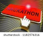 hackathon code malicious... | Shutterstock . vector #1182576316