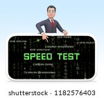 connection speed test... | Shutterstock . vector #1182576403