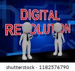 digital revolution concept... | Shutterstock . vector #1182576790