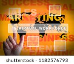 virtual workforce offshore... | Shutterstock . vector #1182576793