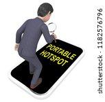 portable hotspot wifi signal... | Shutterstock . vector #1182576796