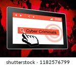 cybercriminal internet hack or... | Shutterstock . vector #1182576799