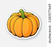 vector illustration. orange... | Shutterstock .eps vector #1182577669