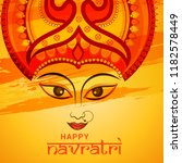 illustration of happy navratri... | Shutterstock .eps vector #1182578449