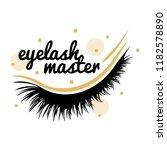 eyelash extension logo. vector...   Shutterstock .eps vector #1182578890