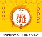 illustration of sale poster or... | Shutterstock .eps vector #1182579169