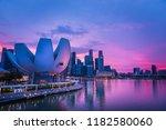 panorama view of singapore... | Shutterstock . vector #1182580060