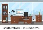 vector corporate workspace... | Shutterstock .eps vector #1182584293