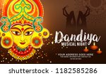 illustration of garba festival... | Shutterstock .eps vector #1182585286