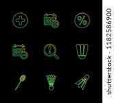 set of 9 icons  for web ... | Shutterstock .eps vector #1182586900