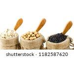 grain drying beans on a white...   Shutterstock . vector #1182587620