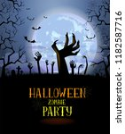 halloween background for a... | Shutterstock .eps vector #1182587716