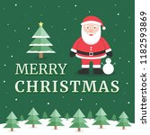 merry christmas greeting card... | Shutterstock .eps vector #1182593869