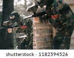 selective focus of paintball... | Shutterstock . vector #1182594526