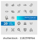 protection icons. set of  line... | Shutterstock .eps vector #1182598966