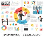 flat infographic elements... | Shutterstock .eps vector #1182600193