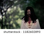 portrait of asian woman make up ... | Shutterstock . vector #1182602893