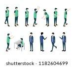 man isometric illustration... | Shutterstock .eps vector #1182604699