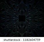 futuristic blue sci fi abstract ...