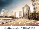 avenue in modern city   Shutterstock . vector #118261150