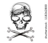 pirate skull isolated on white... | Shutterstock . vector #118262800