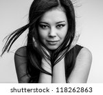 young nice asian girl poses in... | Shutterstock . vector #118262863