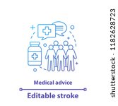 medical advice concept icon.... | Shutterstock .eps vector #1182628723