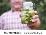 man holding refrigerator...   Shutterstock . vector #1182641623
