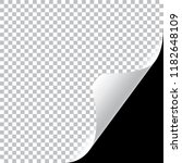 curly page corner realistic... | Shutterstock .eps vector #1182648109