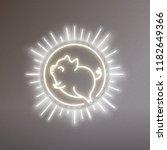 cute pig neon logo  new year...   Shutterstock .eps vector #1182649366