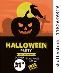 halloween party invitation card | Shutterstock .eps vector #1182649819