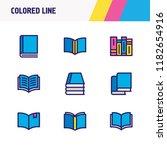 vector illustration of 9 book... | Shutterstock .eps vector #1182654916