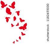 beautiful red butterflies ...   Shutterstock .eps vector #1182655030