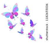beautiful pink butterflies...   Shutterstock .eps vector #1182655036