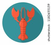 vector icon of a crayfish.... | Shutterstock .eps vector #1182655159