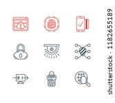 illustration of 9 security... | Shutterstock . vector #1182655189