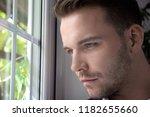 hunky handsome shirtless man...   Shutterstock . vector #1182655660