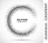halftone circular frame... | Shutterstock .eps vector #1182658369