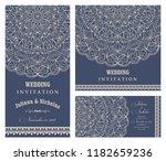 wedding invitation cards... | Shutterstock .eps vector #1182659236