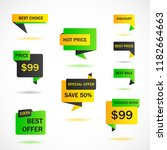 vector stickers  price tag ... | Shutterstock .eps vector #1182664663