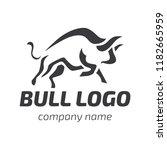 bull logo. black stylized...   Shutterstock .eps vector #1182665959