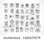 big set of doodle christmas...   Shutterstock .eps vector #1182670279