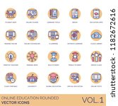 online education rounded icon... | Shutterstock .eps vector #1182672616