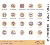 online education rounded icon... | Shutterstock .eps vector #1182672619
