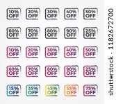 sale discount icons. special... | Shutterstock .eps vector #1182672700