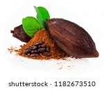 Cocoa Pods And Cocoa Beans And...