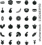 solid black flat icon set onion ... | Shutterstock .eps vector #1182683950